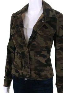 VINCE Camo cotton/denim stretch jacket sz 2